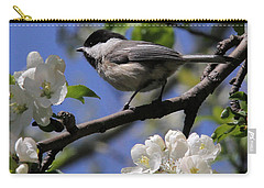 Chickadee Among The Blossoms Carry-all Pouch by Doris Potter