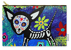Chihuahua Day Of The Dead Carry-all Pouch