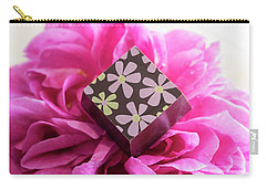 Chocolate Flower Carry-all Pouch by Sabine Edrissi