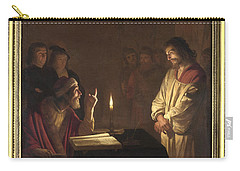 Christ Before The High Priest Carry-all Pouch by Gerrit van Honthorst