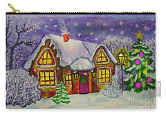 Christmas House, Painting Carry-all Pouch