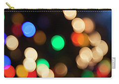 Carry-all Pouch featuring the photograph Christmas Lights by Susan Stone