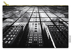Carry-all Pouch featuring the photograph Chrysler Reflections by Jessica Jenney