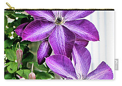 Clematis Carry-all Pouch by Kristin Elmquist