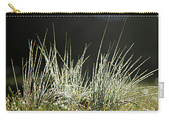 Close-up Of Dew On Grass, In A Sunny, Humid Autumn Morning Carry-all Pouch