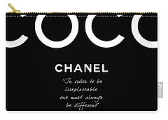 Coco Chanel Irreplaceable Quote Carry-all Pouch