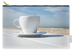 Carry-all Pouch featuring the photograph Coffee On The Beach by Patricia Hofmeester
