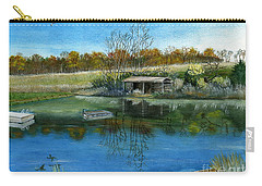 Carry-all Pouch featuring the painting Cole Hill Pond by Melly Terpening