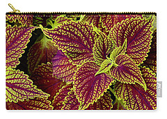Coleus Leaves Carry-all Pouch by Tim Good