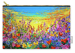 Carry-all Pouch featuring the painting Color My World by Teresa Wegrzyn