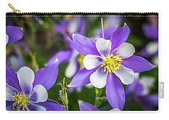 Colorado Columbines Carry-all Pouch by Teri Virbickis