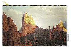 Carry-all Pouch featuring the photograph Colorado Garden Of The Gods Landscape by Andrea Hazel Ihlefeld