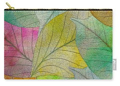 Carry-all Pouch featuring the digital art Colorful Leaves by Klara Acel
