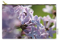 Common Purple Lilac Carry-all Pouch by J McCombie