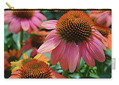 Carry-all Pouch featuring the digital art Cone Flower by Eva Kaufman