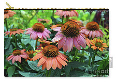 Carry-all Pouch featuring the digital art Coneflower  by Eva Kaufman
