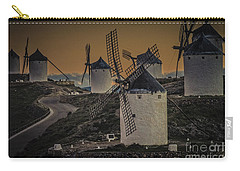 Carry-all Pouch featuring the photograph Consuegra Windmills 2 by Heiko Koehrer-Wagner