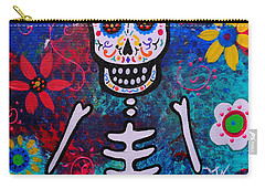 Corazon Day Of The Dead Carry-all Pouch