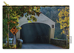 Carry-all Pouch featuring the photograph Cornish-windsor Covered Bridge by Jeff Folger