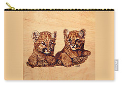 Cougar Cubs Carry-all Pouch by Ron Haist