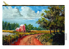 Carry-all Pouch featuring the painting Country Lane by Jim Phillips