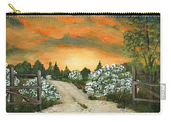 Carry-all Pouch featuring the painting Country Road by Anastasiya Malakhova
