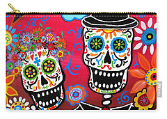 Carry-all Pouch featuring the painting Couple Day Of The Dead by Pristine Cartera Turkus