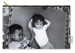 Carry-all Pouch featuring the photograph Cousins by Jez C Self