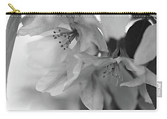 Crabapple Blossom Black And White Carry-all Pouch
