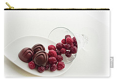 Carry-all Pouch featuring the photograph Cranberry Chocolate by Sabine Edrissi