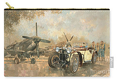 Cream Cracker Mg 4 Spitfires  Carry-all Pouch by Peter Miller