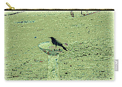 Crow And Bath Carry-all Pouch