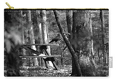 Crow On A Table Carry-all Pouch by Andy Lawless