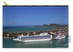 Carry-all Pouch featuring the photograph Cruise Port by Gary Wonning