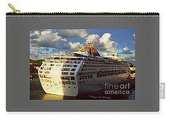 Cruise Ship In Port Carry-all Pouch by Gary Wonning