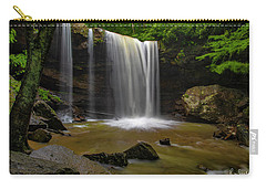 Carry-all Pouch featuring the photograph Cucumber Falls by Ronald Santini