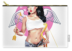 Carry-all Pouch featuring the digital art Cupid by Brian Gibbs