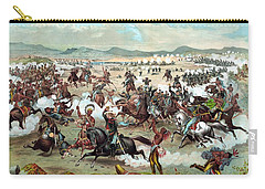 Carry-all Pouch featuring the painting Custer's Last Stand by War Is Hell Store