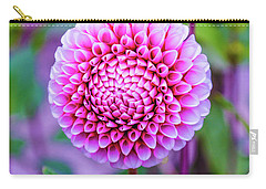 Carry-all Pouch featuring the photograph Dahlia by Zaira Dzhaubaeva