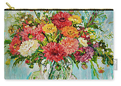 Dahlias Carry-all Pouch by Alexandra Maria Ethlyn Cheshire