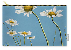 Daisies In The Wind Carry-all Pouch