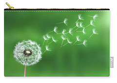 Dandelion Seeds Carry-all Pouch by Bess Hamiti