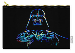 Carry-all Pouch featuring the digital art Darth Vader by Aaron Berg