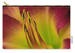 Carry-all Pouch featuring the photograph Day Lily by Cathy Donohoue
