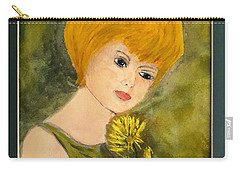 Carry-all Pouch featuring the painting Debbie by Donald Paczynski