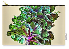 Carry-all Pouch featuring the photograph Decorative Cabbage by Walt Foegelle