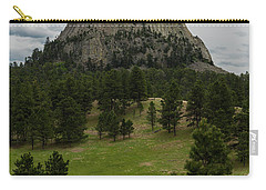 Carry-all Pouch featuring the photograph Devil's Tower by Gary Lengyel