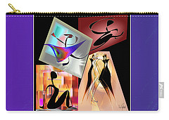 Digital Collage Carry-all Pouch by Iris Gelbart