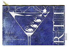 Dirty Dirty Martini Patent Blue Carry-all Pouch by Jon Neidert
