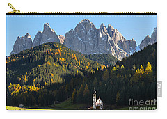 Dolomites Mountain Church Carry-all Pouch by IPics Photography